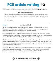 fce exam writing samples my favourite hobby fce wr essay  day cofce exam writing samples my favourite hobby
