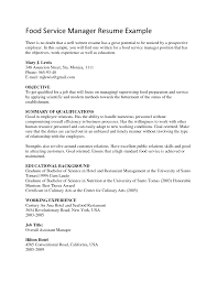 cover letter resume templates food service resume templates for cover letter food service resume objective server examples school food manager samples xresume templates food service