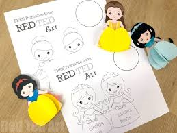 3d <b>Princess Paper</b> Doll Colouring Pages - Red Ted Art
