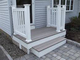 patio steps pea size x: beautiful small front porch decoration using white wood building front porch steps including light grey wood siding front porch wall and white wood front