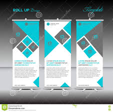 blue roll up banner template display advertisement layout design blue roll up banner template display advertisement layout design