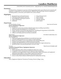 best heavy equipment operator resume example livecareer create my resume