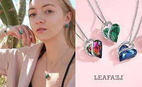 Leafael Infinity Love Heart Pendant Necklace Amber ... - Amazon.com