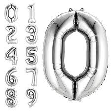 Number Balloons: Gold, Red, <b>Silver</b> Numbers & More | Party City