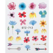 1 шт рельефные 3D <b>наклейки для ногтей</b> Цветущий цветок ...