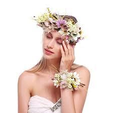 dressfan Headbands Multicoloured Artificial Flower for <b>Women</b> ...