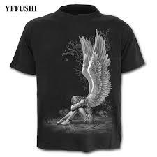 <b>YFFUSHI 2018 Male</b>/Female <b>3d</b> T shirt Beautiful Angel girl Print Hip ...