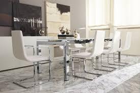 glass extending high gloss dining table