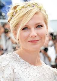 Kirsten Dunst  - 2018 Regular blond hair & Bun hair style.