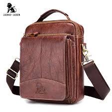 LAOSHIZI LUOSEN Genuine <b>Cow Leather</b> Messenger <b>Bags Men</b> ...