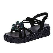 KPILP <b>Women</b> Sandals <b>Shoes Platform</b> Flat Peep Toe Female ...