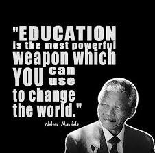 Nelson Mandela – Education is the most powerful weapon… | MOFFE ... via Relatably.com