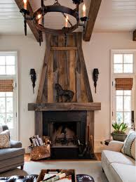 black fireplace mantel decor