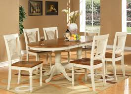 Dining Room Table 6 Chairs 7pc Oval Dining Room Set Table 6 Chairs Extension Leaf