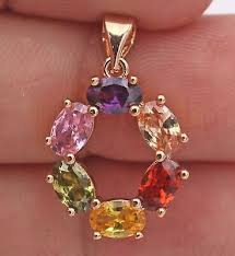 18K Gold Filled Pendant Pink Quartz Ruby <b>Amethyst</b> Morganite ...