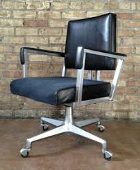 vintage ase all steel metal desk office swivel arm chair mid century modern ebay chair mid century office