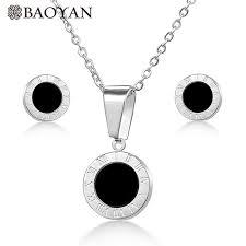 <b>BAOYAN</b> stainless steel Roman numerals necklace women <b>gold</b> ...