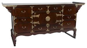 korean tansu style 13 drawer buffet server asian buffets and sideboards asian style furniture