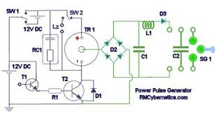 diy homemade power pulse generator   rmcyberneticspower pulse generator circuit diagram