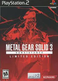 Video game:PlayStation 2 PlayStation 2 <b>Metal Gear Solid 3</b> ...