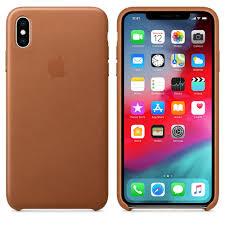 <b>Чехол Apple Leather</b> Case кожа, цвет коричневый, для iPhone XS ...