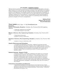 academic curriculum vitae example exons tk category curriculum vitae