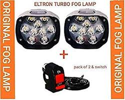 ELTRON TURBO 9 led eltron <b>Fog Light</b> Waterproof <b>Black</b> Body high ...