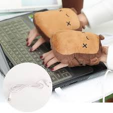 1 Pair <b>Toast USB Hand Warmers</b> Cute USB Heating Gloves Half ...