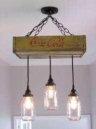 coca cola chandelierceiling light with mason jars yellow mason jar lighting rustic lighting vintage coca cola mason jar decor rustic diy vintage mason jar chandelier