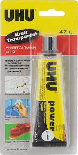 <b>UHU Клей</b> универсальный Kraft Power Transparent 45 мл ...