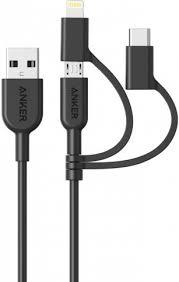 <b>Кабель Anker Powerline II</b> USB-Type C/Lightning/MicroUSB ...