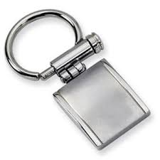 Dual Finish <b>Men's</b> Stainless Steel <b>Keychain</b> Ring <b>Jewelry</b> ...
