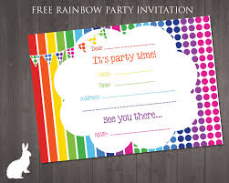 best ideas about party invitations teen spa cute and colourful rainbow theme party invitation template for your kids party specially designed by rubyandtherabbit just it and print