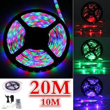 <b>10M Waterproof</b> 600 LED 3528 <b>RGB</b> SMD Strip Light Remote ...