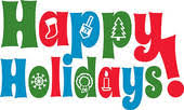 Image result for happy holidays clip art banner