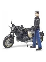 <b>Мотоцикл Bruder Scrambler Ducati</b> Cafe Racer, с фигуркой ...