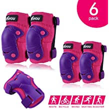 GLOBTOUCH Child Knee Pads <b>Elbow</b> Pads Wrist Guards <b>3 in 1</b> ...