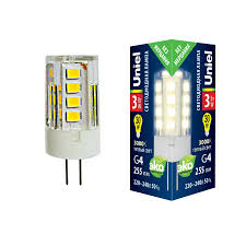 <b>Лампа</b> светодиодная (UL-00006742) <b>Uniel G4 3W 3000K</b> ...