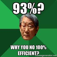 93%? Why you no 100% efficient? - High Expectations Asian Father ... via Relatably.com