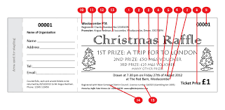 christmas themed raffle ticket christmas design raffle ticket