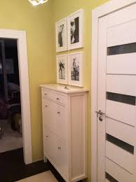 White <b>HEMNES</b> Shoe cabinet in the olive hall | <b>Hemnes</b>, Living room ...