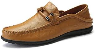 <b>Men's Leather</b> Shoes Driving Loafers <b>Lazy</b> Peas Slip on <b>Breathable</b> ...