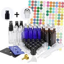 2019 <b>24 Pack 10ml Glass</b> Roller Bottles For Essential Oils Stainless ...