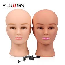 Rubber Female <b>Mannequin Head</b> and Clamp For Wigs Professional ...