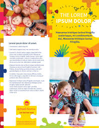 child care flyer templates word best templates daycare brochure template