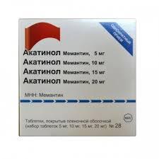 <b>Акатинол Мемантин</b>, <b>5</b>/10/15/20 мг, <b>набор</b> таблеток, таблетки ...