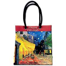 Van Gogh 'Café Terrace at Night' Shopping Bag ... - Amazon.com
