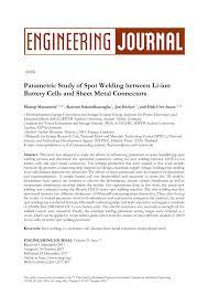 (PDF) Parametric Study of <b>Spot Welding</b> between <b>Li-ion Battery</b> ...