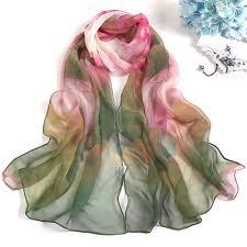 <b>Fashion</b> Spring <b>Autumn</b> 1PC <b>Women Chiffon</b> Silk Scarfs Square ...