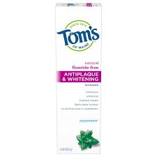 Tom's of Maine <b>Natural Antiplaque &</b> Whitening Fluoride-Free ...